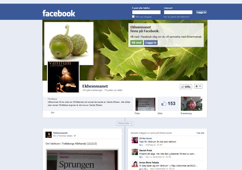 Ekhemmanet på Facebook